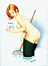 Pin-up art (Dickens,Archie)